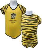 Image for the Tiger Stripe Onesie, Gold with Black Stripes, Third Street Sportswear product