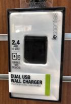 Image for the Dual USB Wall Charger, 3.4Amp, iEssentials, IEC-ACP3U-BK, 017205407 product
