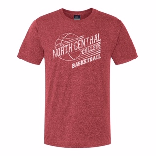 Image for the North Central College Vintage Heather Red Basketball shirt by MV Sport product