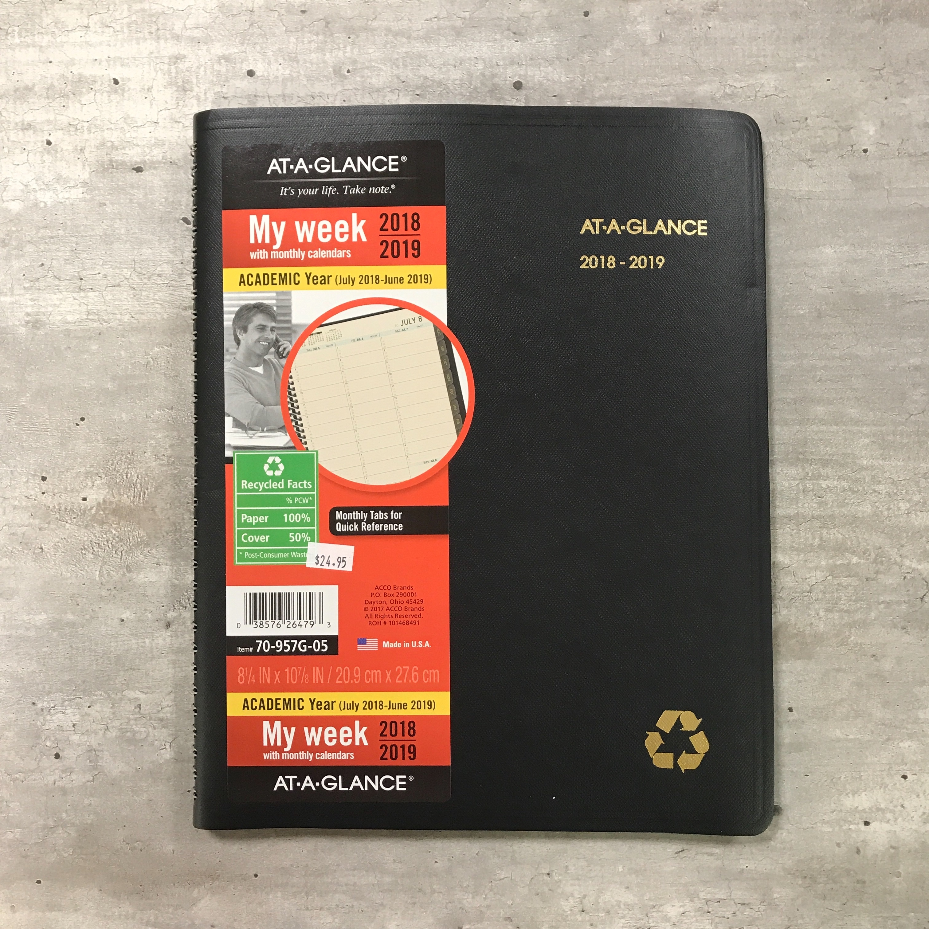Image for the Recycled Weekly Monthly Appointment Planner 18-19 ACCO product