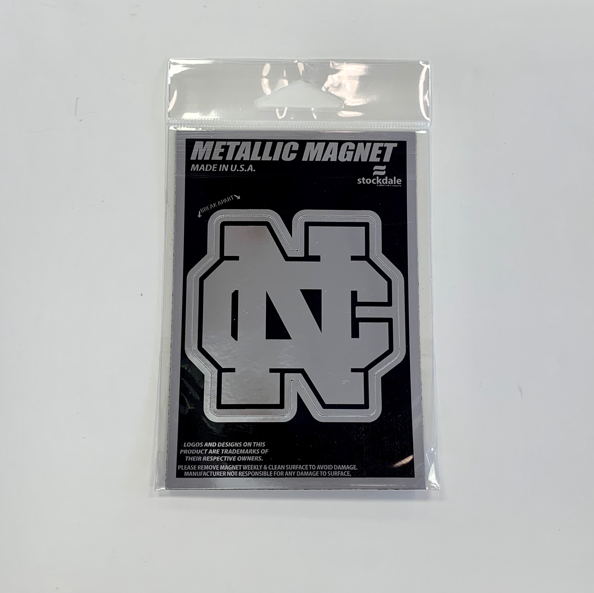 Image for the Magnet Metallic 3x5 Black w/Silver NCC Logo product