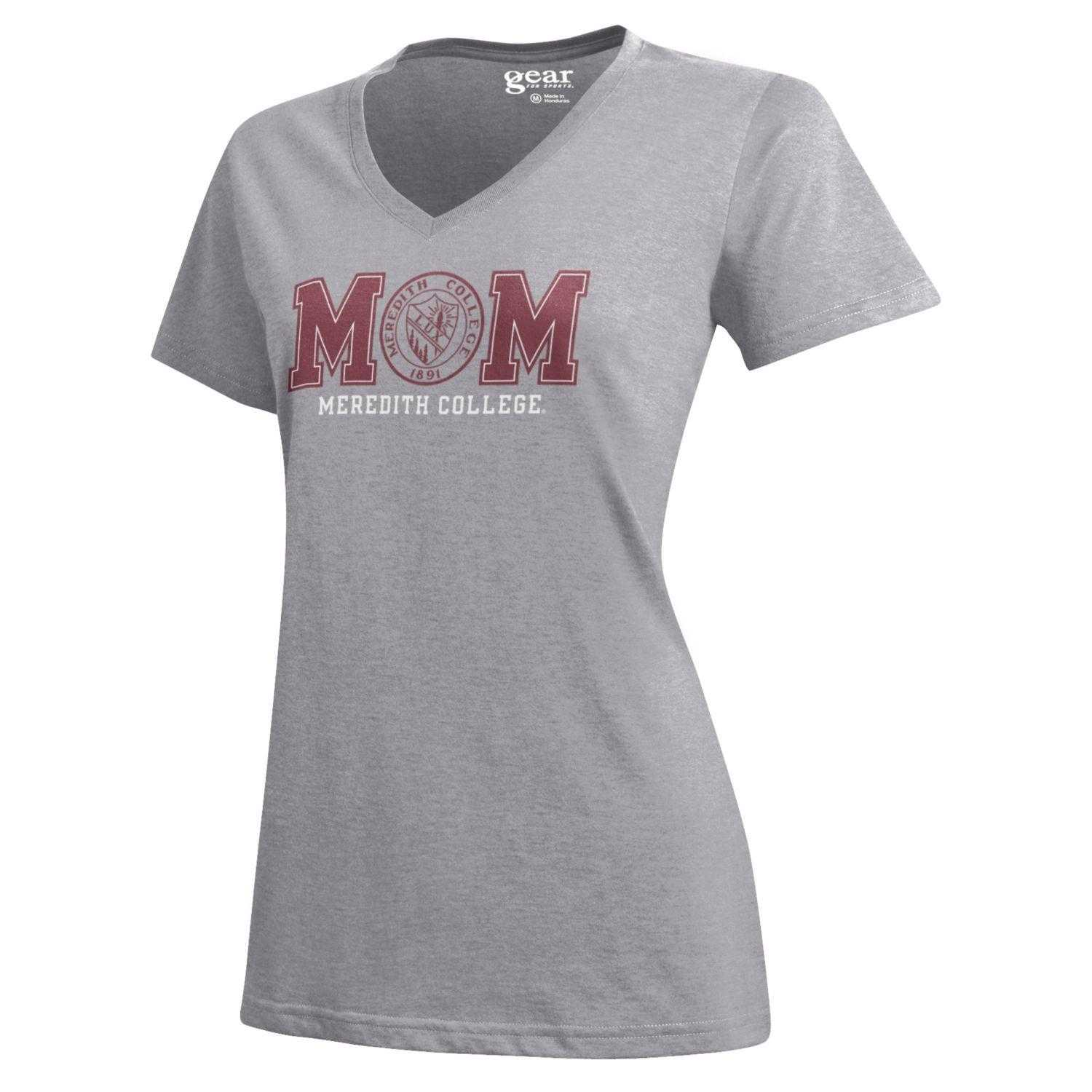 Image for the Mom V-Neck T-shirt, Oxford Heather w/Seal product