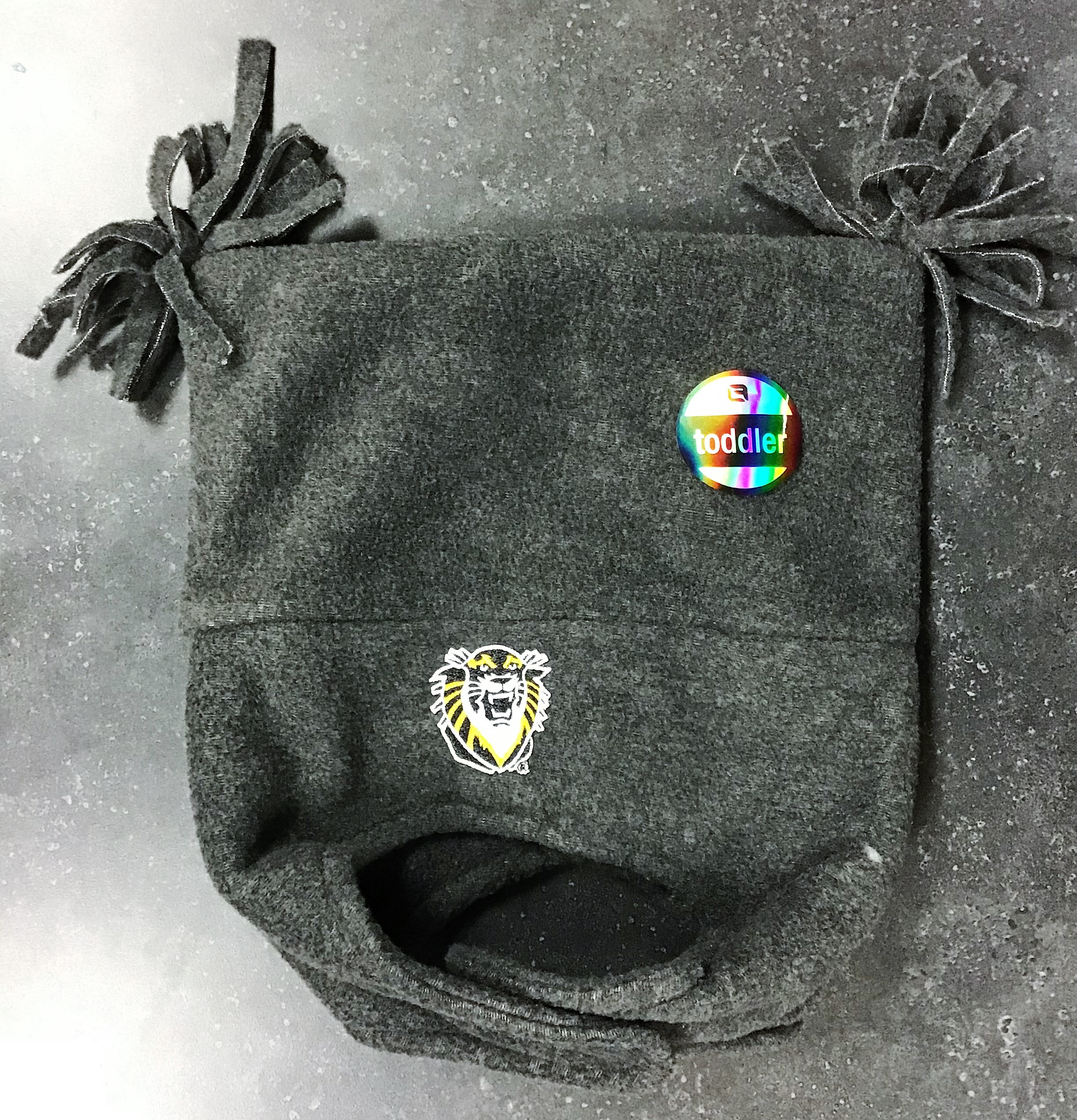Image for the Fleece Cap + Chinstrap, Toddler, Gray, Logofit 4864 product
