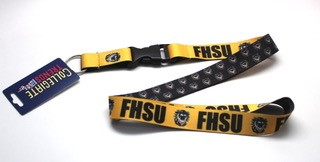 Image for the FHSU Tiger Sublimated Lanyard, Collegiate Trends product