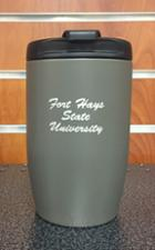 Image for the Tumbler Flip Top No Spill 10 oz. FHSU Vacuum Insulated, Stainless Steel, #VAC-250-GM product