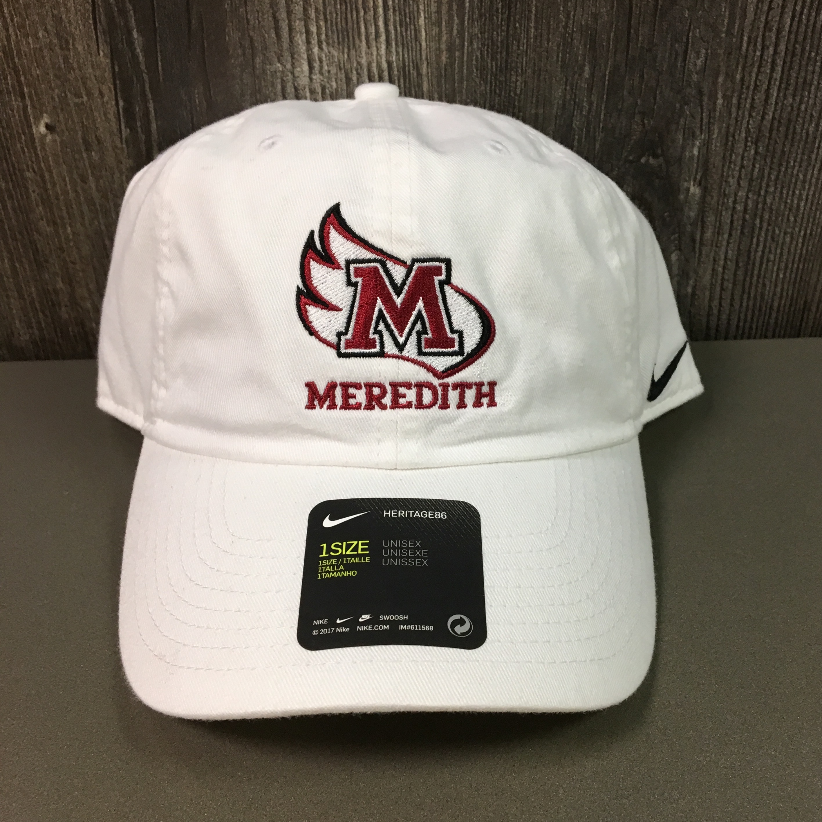 Image for the Nike Men's Campus Hat, White, M-Wing Meredith product