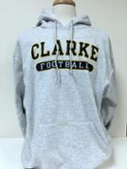 Image for the Hooded Sweatshirt Russell Grey with Navy Clarke University and Sport product