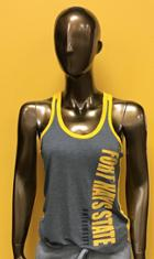 Image for the Gray Front Gold Back Women's Racer Back Tank, Coloseum product
