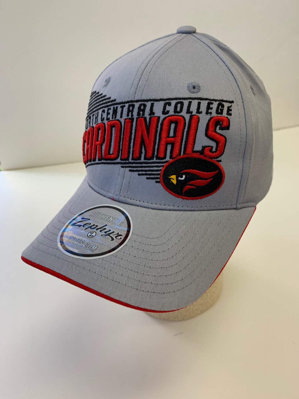 Image for the Zephyr Grey Snap Closure, Cardinals Hat product
