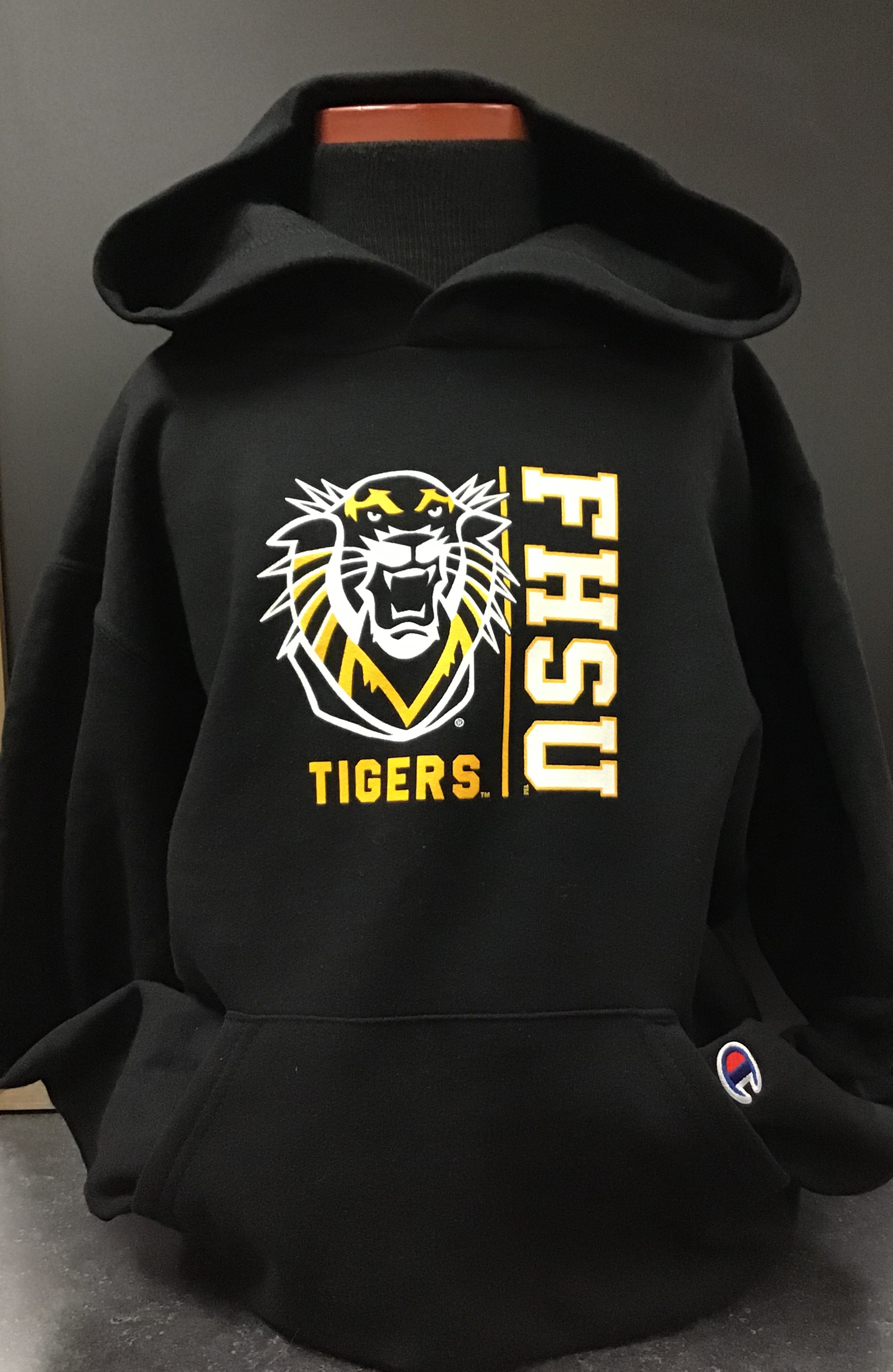 Image for the Youth Hoodie Black with Mascot FHSU product