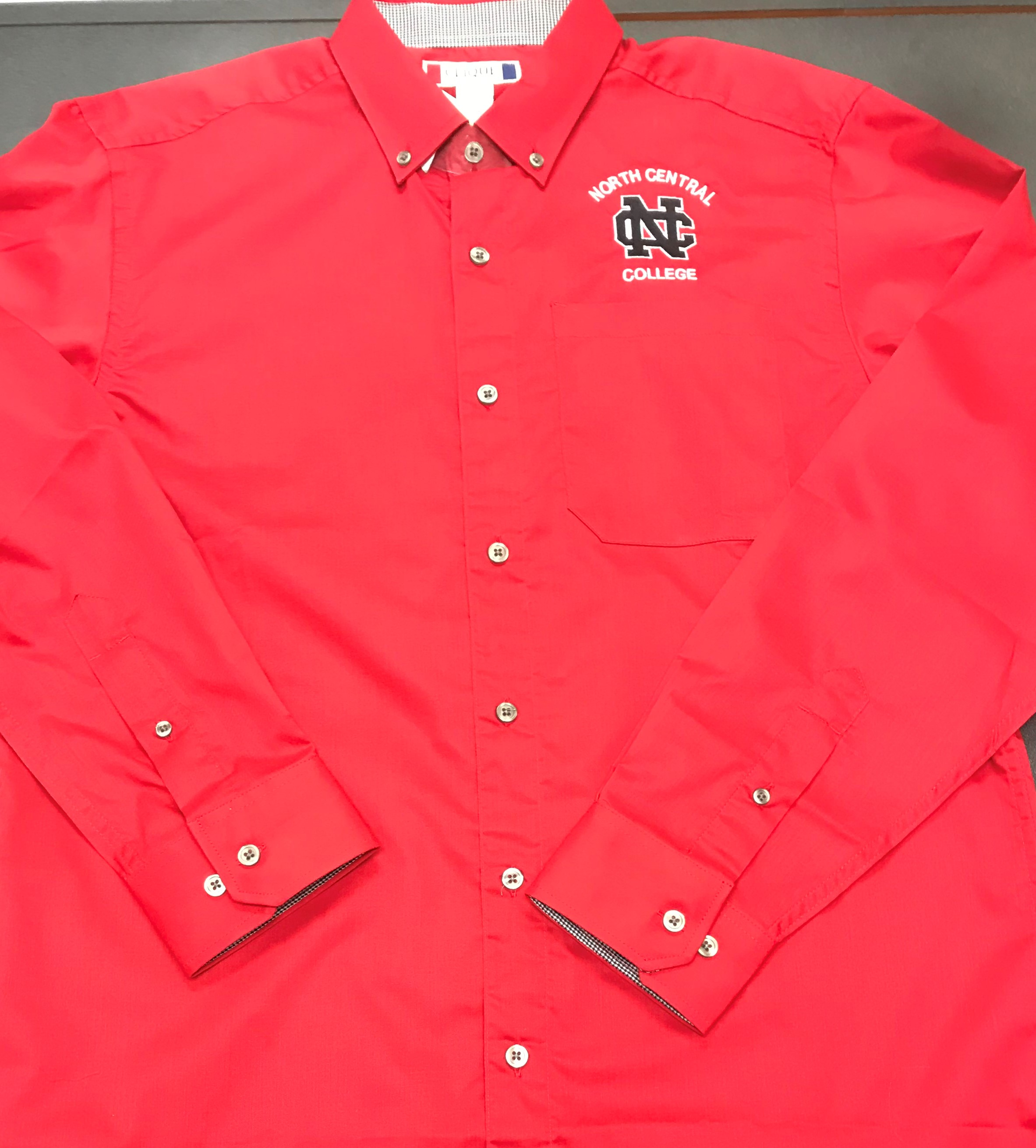 Image for the Clearance - (Small and Med only) Cutter & Buck LS Buttondown Shirt, Logo & School Name On Left product