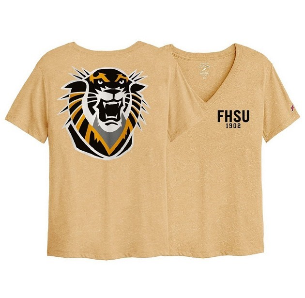 Image for the Intramural Boyfriend V Neck,  FHSU 1902 Front, Tiger Head Back, League product