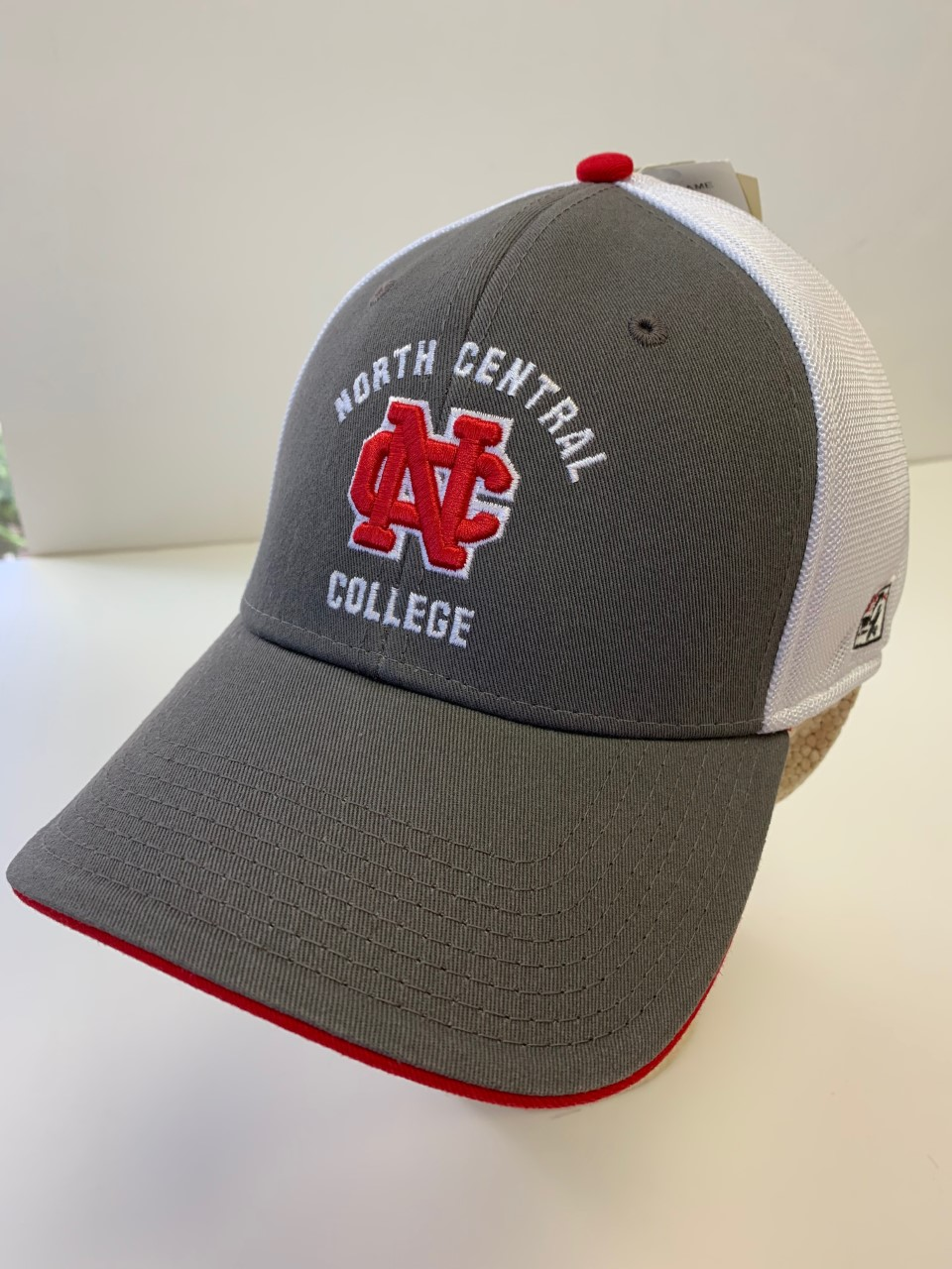 Image for the The Game Flex Fit Hat w/Logo & School Name, Grey/White product