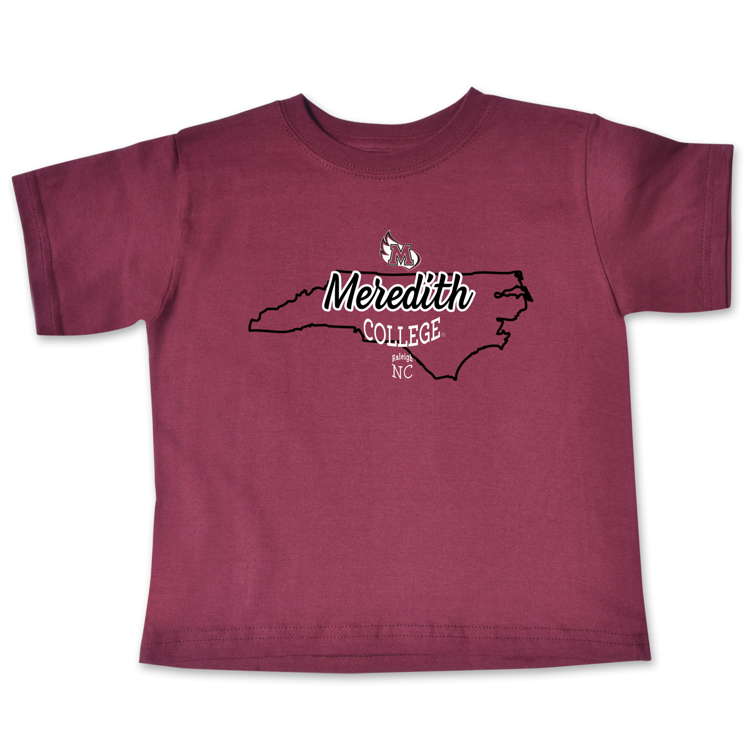 Image for the Toddler Short Sleeve Tee Maroon State Outline College Kids product