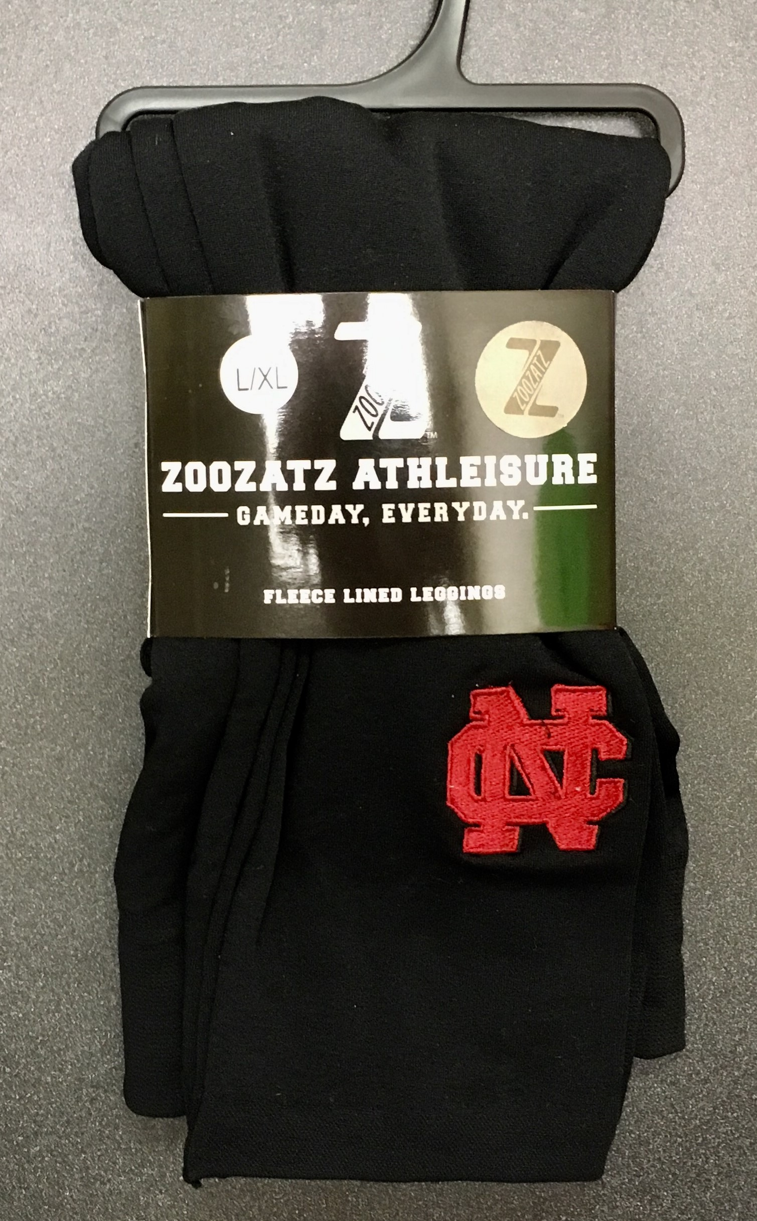 Image for the ZOOZATZ Black Legging w/Red Logo product