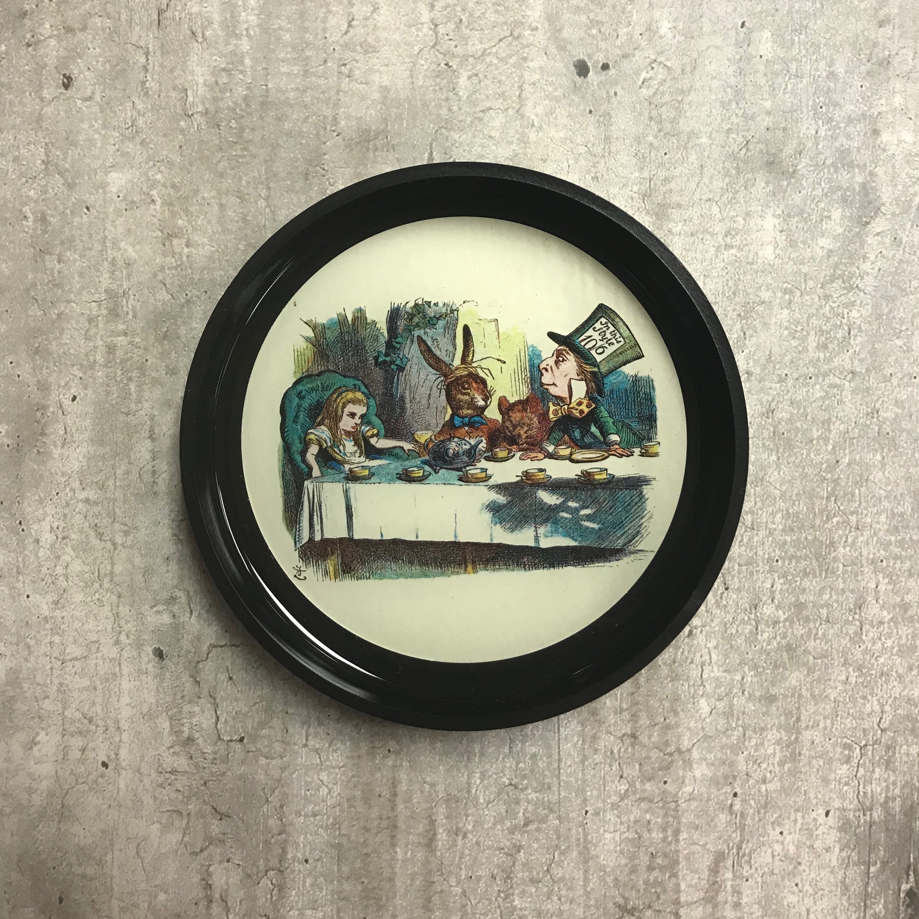 Image for the Round Black Tray, Alice in Wonderland Designs product