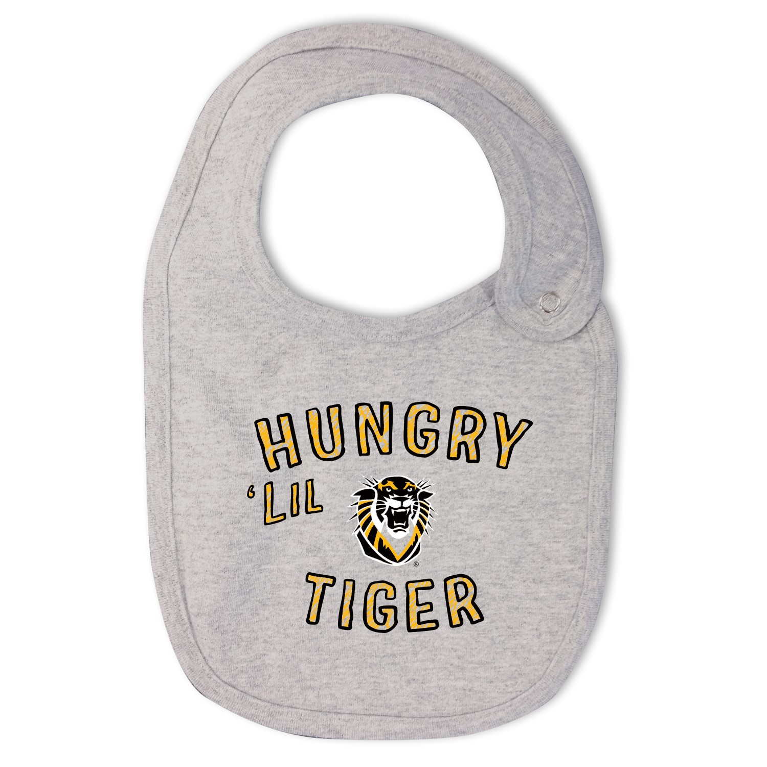 Image for the Hungry 'Lil Tiger Oxford Bib, One Size, College Kids product