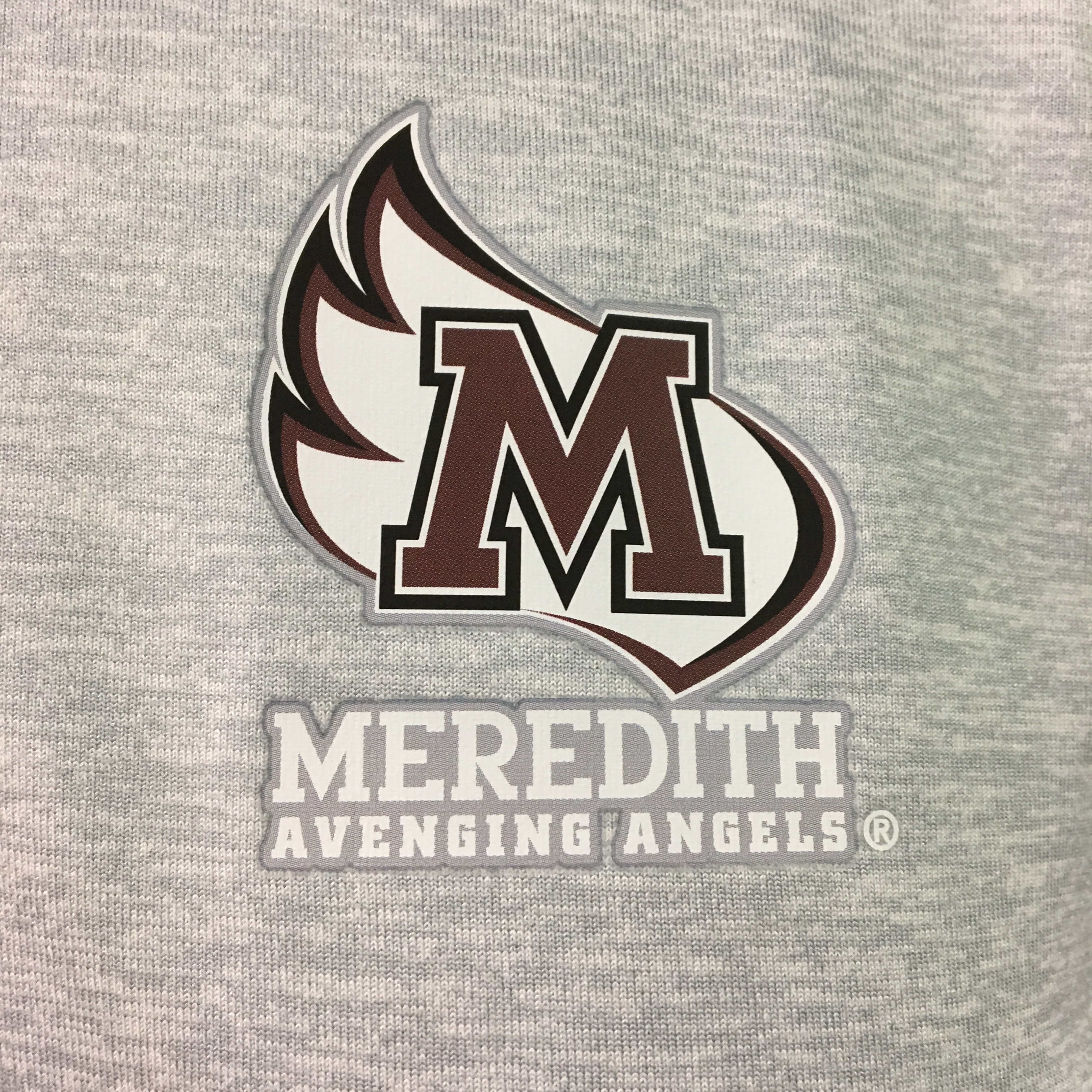 Alternative Image for the Dry Fit Heather 1/2 Zip, Grey with M-Wing product