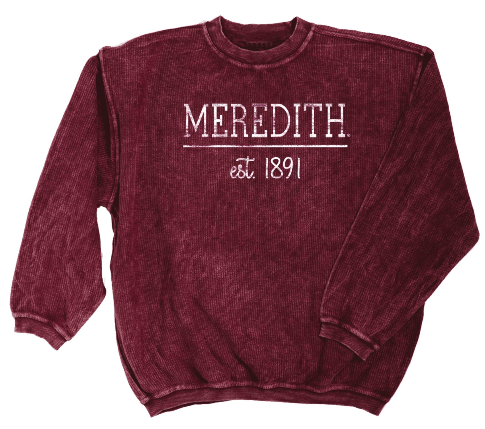 Image for the Corded Cotton Crew Sweatshirt Maroon product