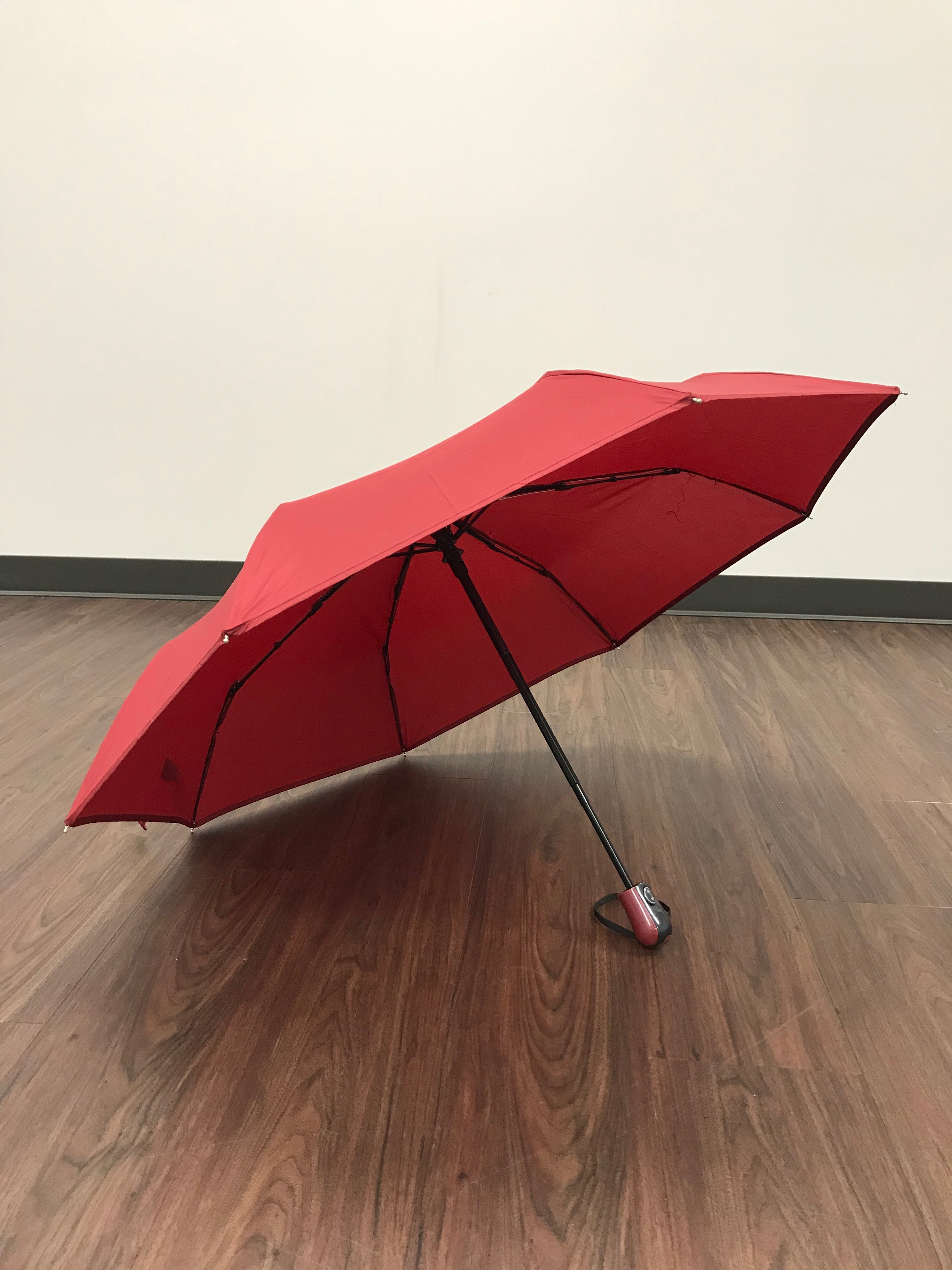 Image for the Maroon Folding Umbrella, No Design product