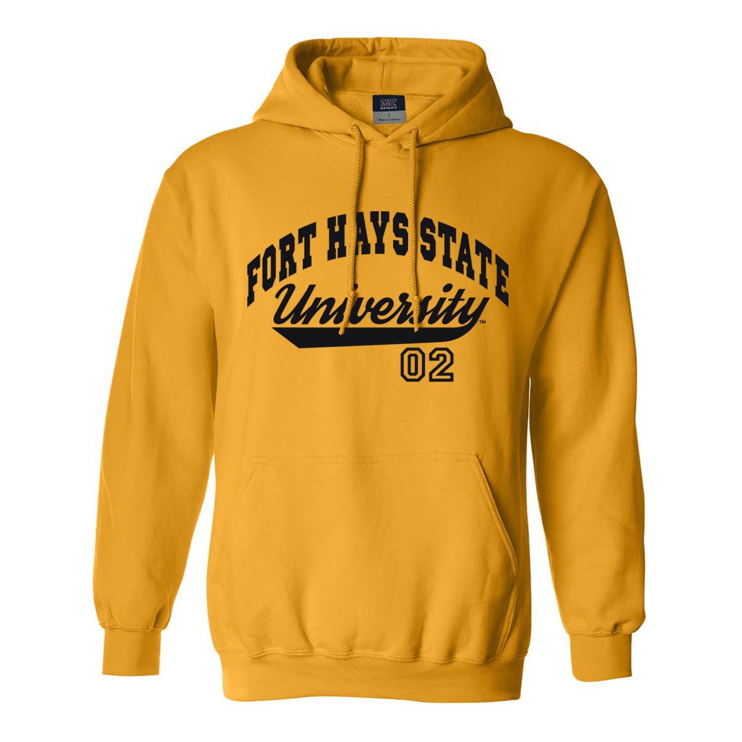Image for the Hoodie Sweatshirt in White or Gold FHSU 02 MV Sport product