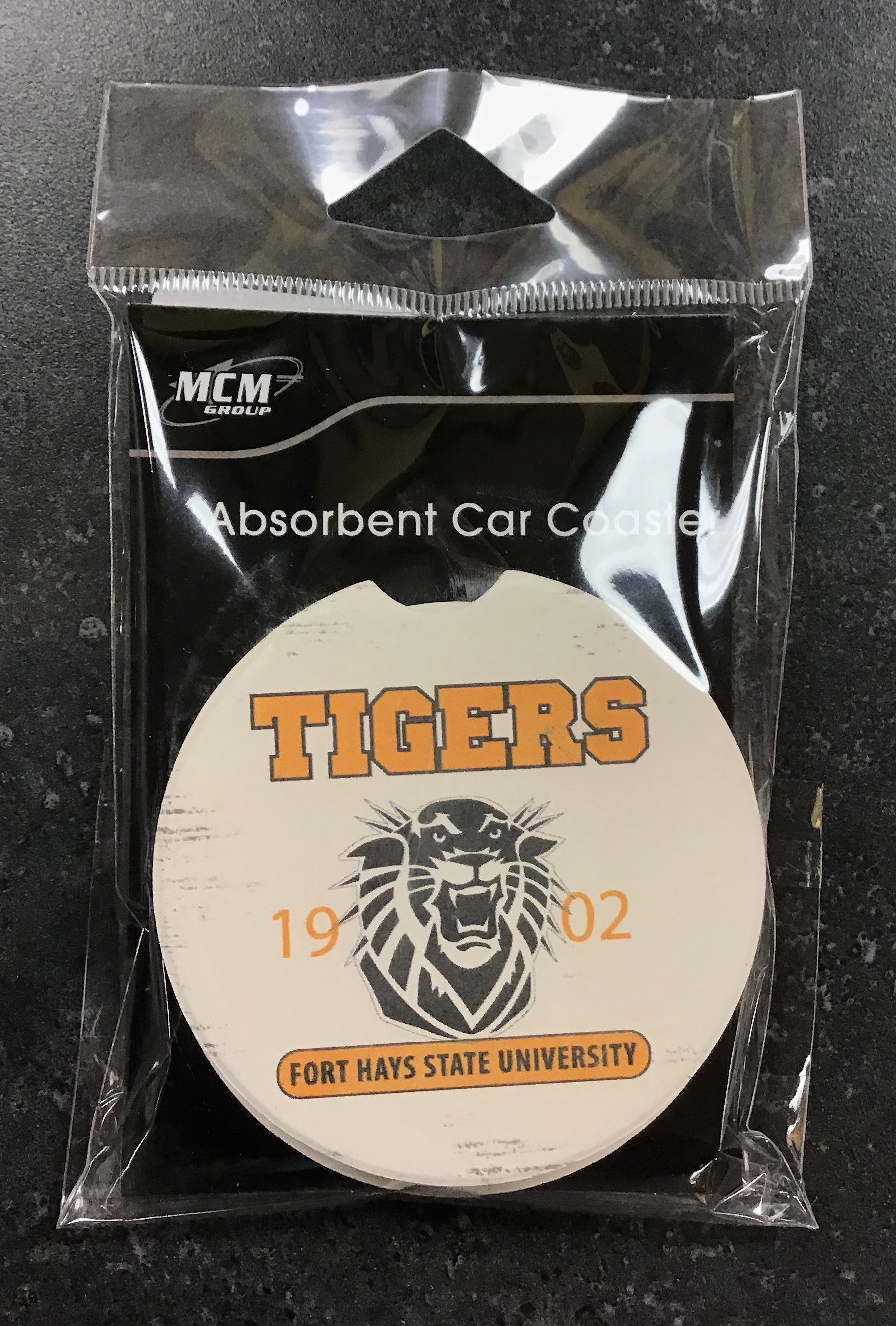 Image for the Car Coaster with Tiger Mascot MCM product