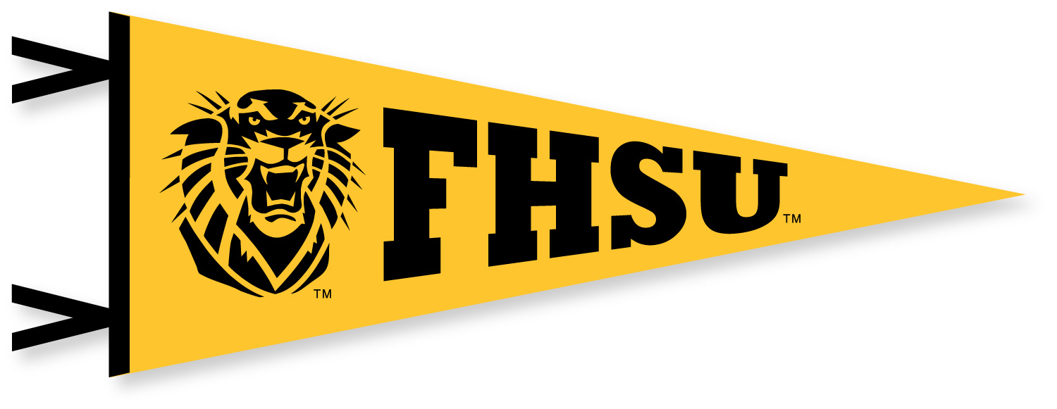 Image for the Gold Felt Pennant 6x15 with Tiger FHSU Collegiate Pacific product