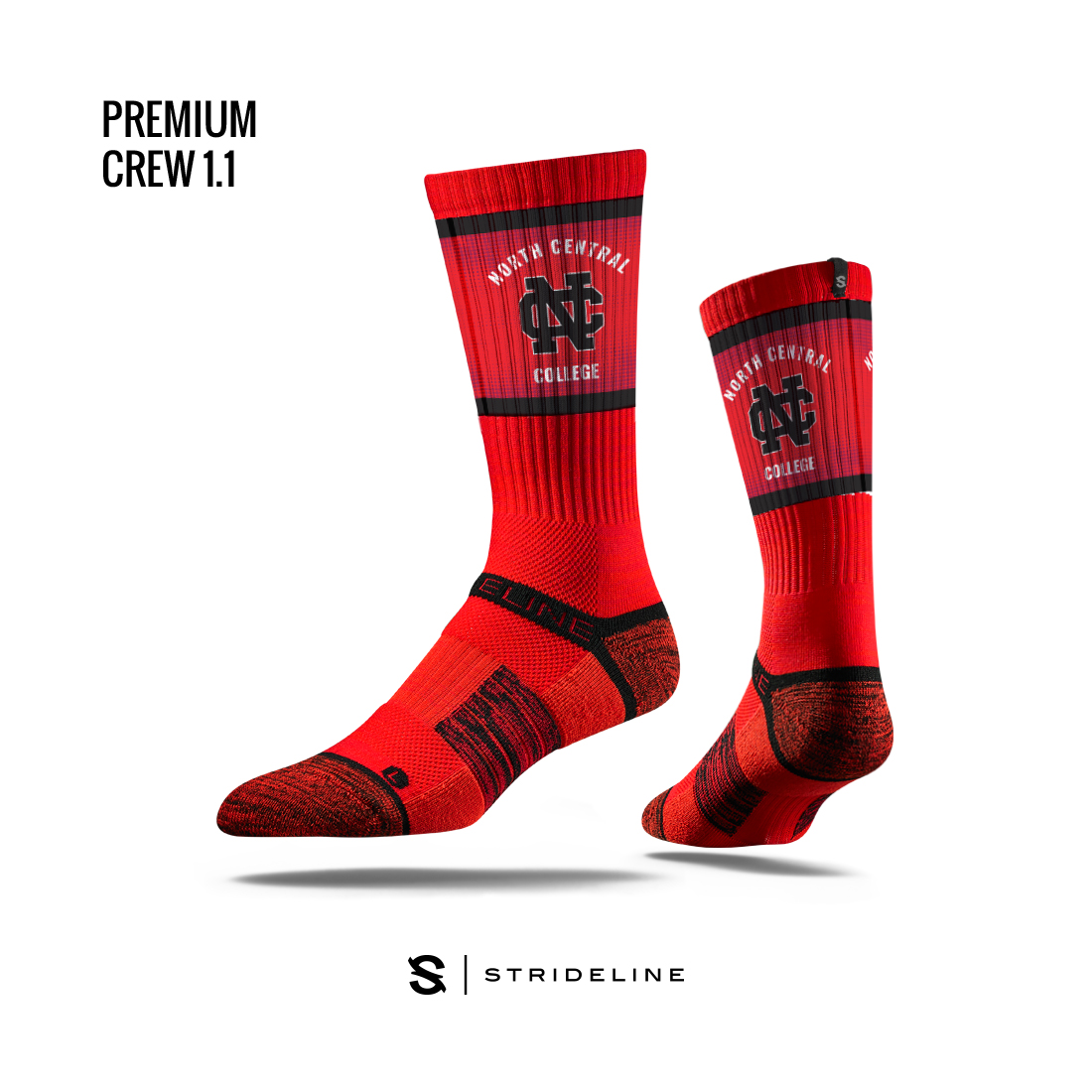 Image for the Strideline Red Crew Socks product