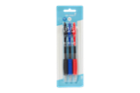 Image for the Gel Pens, Retractable 0.7mm, Black/Blue/Red, 3/pk product