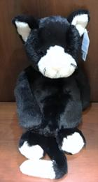 Image for the Plush Kitten, Black+White, JellyCat Medium BAS3BWC product