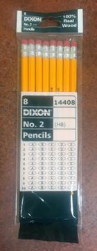 Image for the Dixon #2 Pencils, Real Wood, 8-Pack product