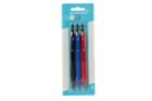 Image for the Ballpoint Pens, Retractable 0.7mm, Black/Blue/Red, 3/pk product