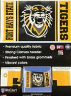 Image for the Flag 3' x 5' Black & Gold FHSU Tiger Mascot product
