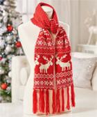 Image for the Knit Scarf w/ Reindeer Design product