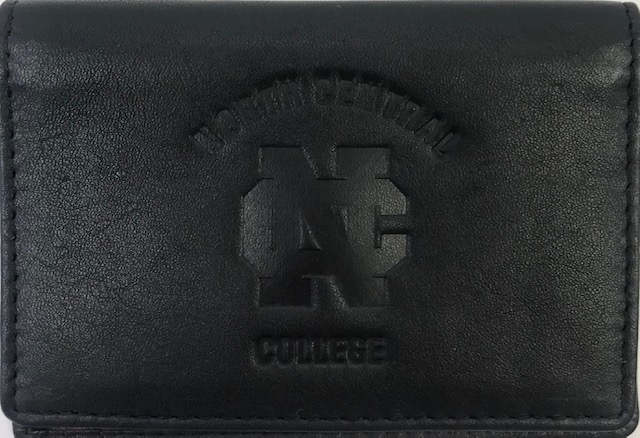 Alternative Image for the North Central College Black Leather Wallet product