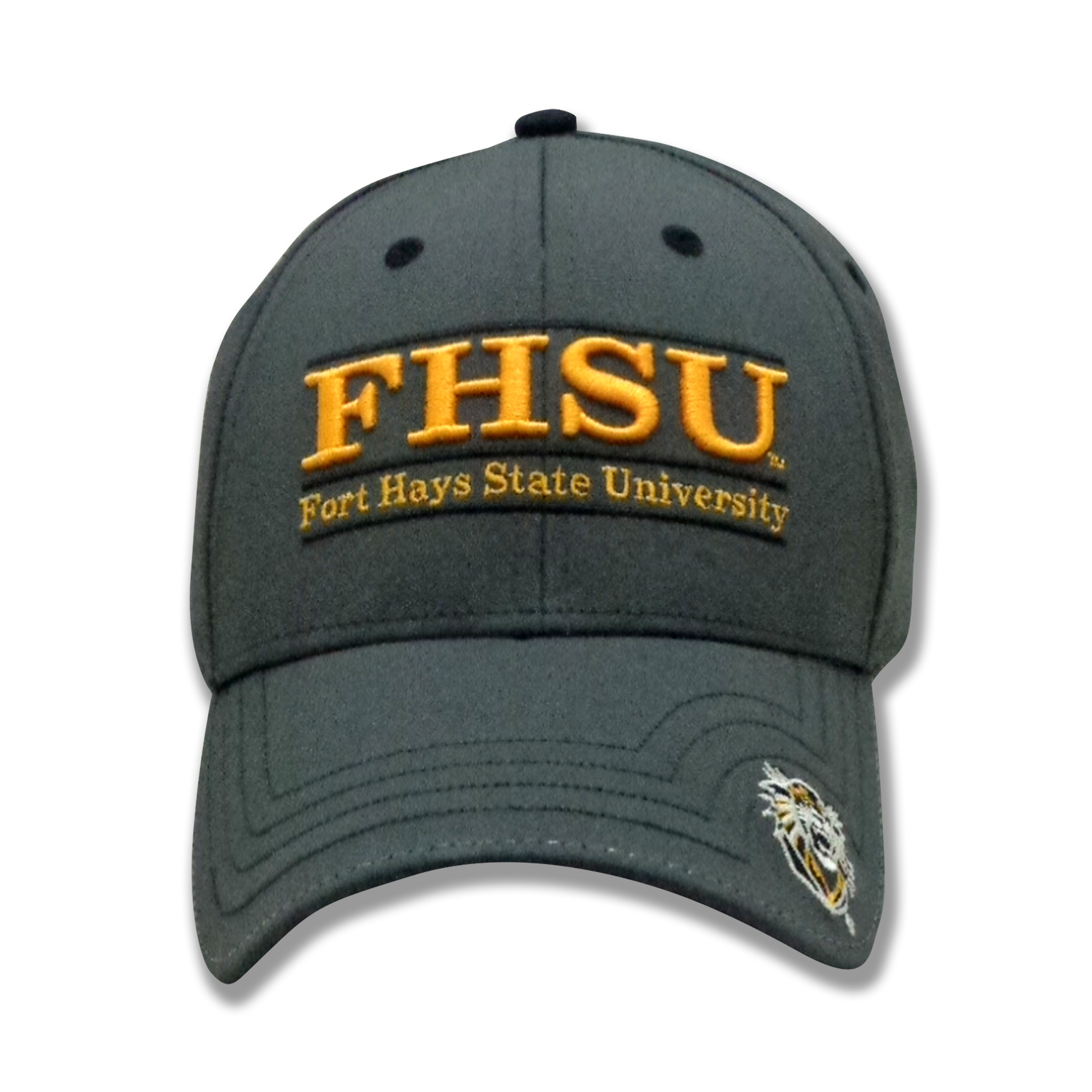Alternative Image for the FHSU Game Changer Low Profile Hat, Slide Buckle Closure, Graphite, The Game product