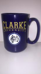 "Image for the Mug, Navy w/ Gold ""Clarke University"" & Identifying Medallion product"
