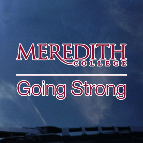 Image for the Auto Decal Meredith College Going Strong product