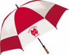 Image for the Red/White Vented Diamond Back Golf Umbrella (Imprinted) product