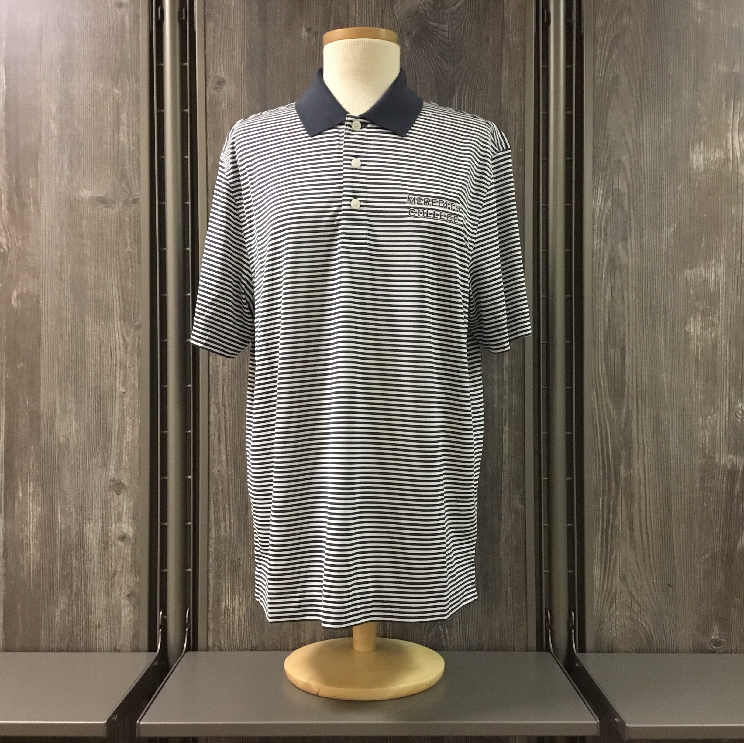 Image for the Men's Polo Trevor White/Gray Stripe Cutter & Buck product
