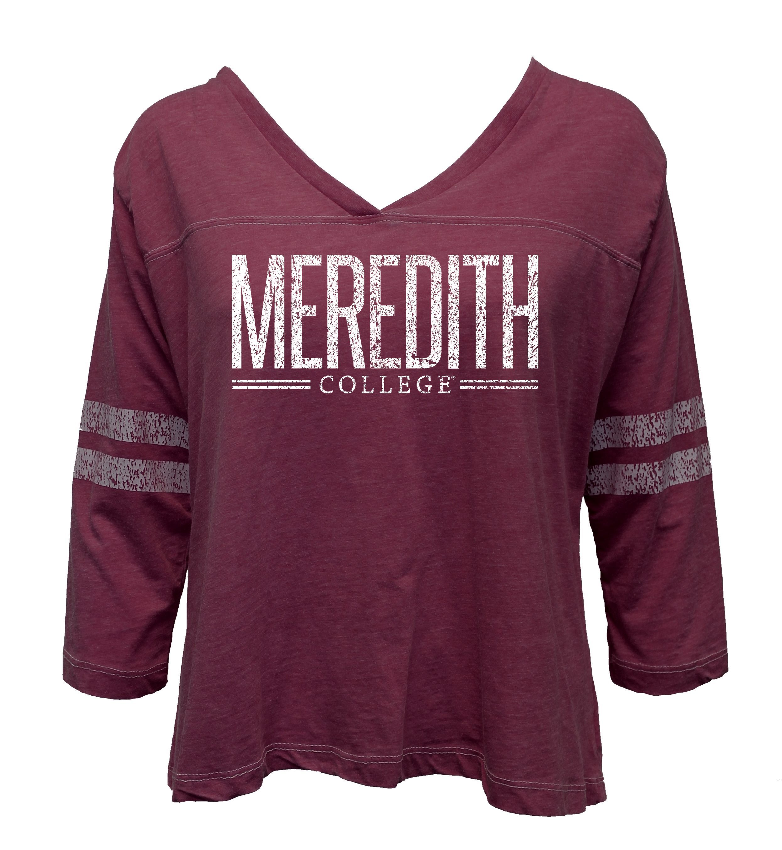 Image for the Relaxed Junior's 3/4 Sleeve Football Tee Maroon Summit Sportswear product