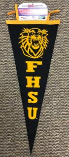Image for the Gold Felt Vertical Pennant 12x30 with Tiger FHSU Collegiate Pacific product