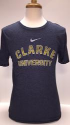 Image for the Tri-Blend Navy Heather T-Shirt with Gold Logo product