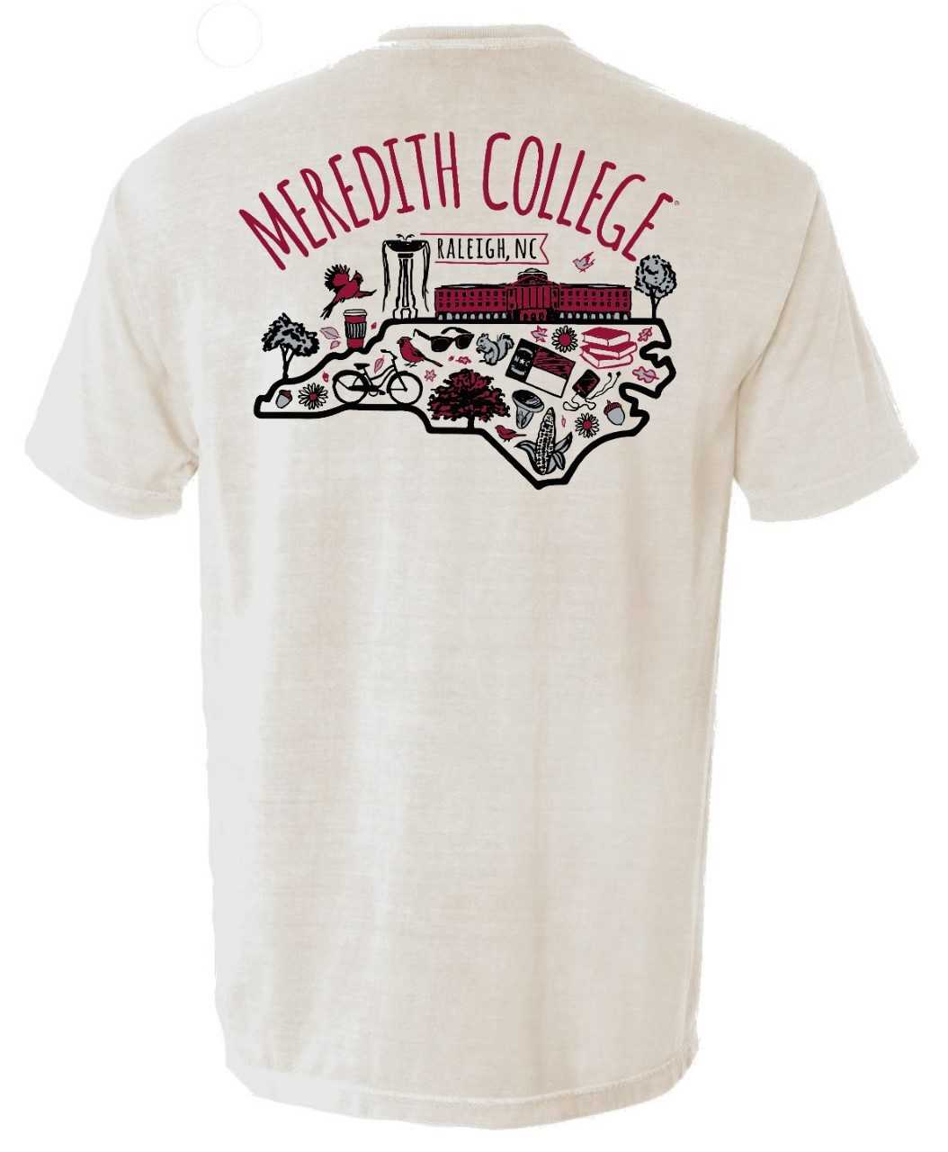 Image for the Comfort Colors T-Shirt, Ivory, Campus Life Images product