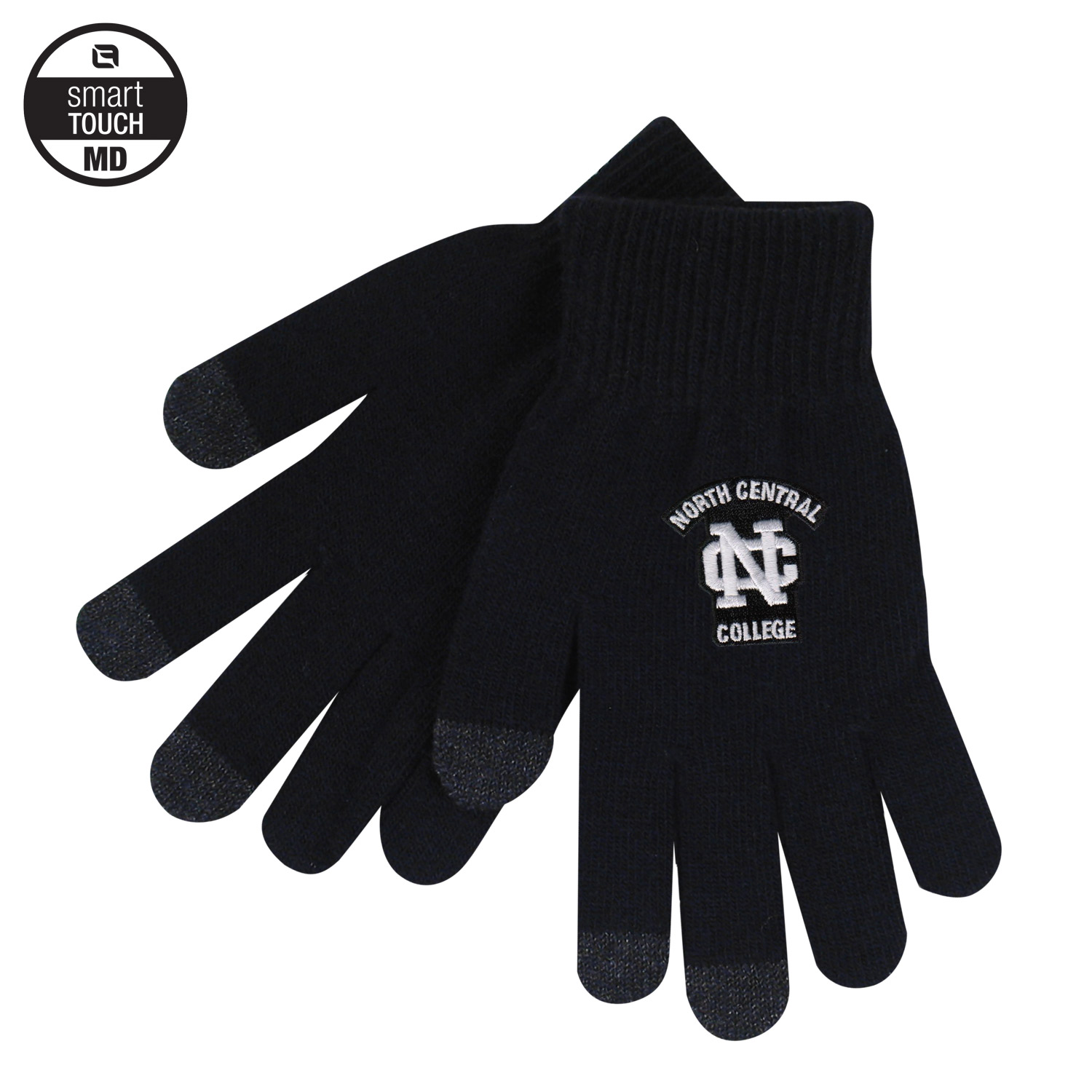 Image for the LogoFit Smart Touch Black Knit Gloves w/Logo product