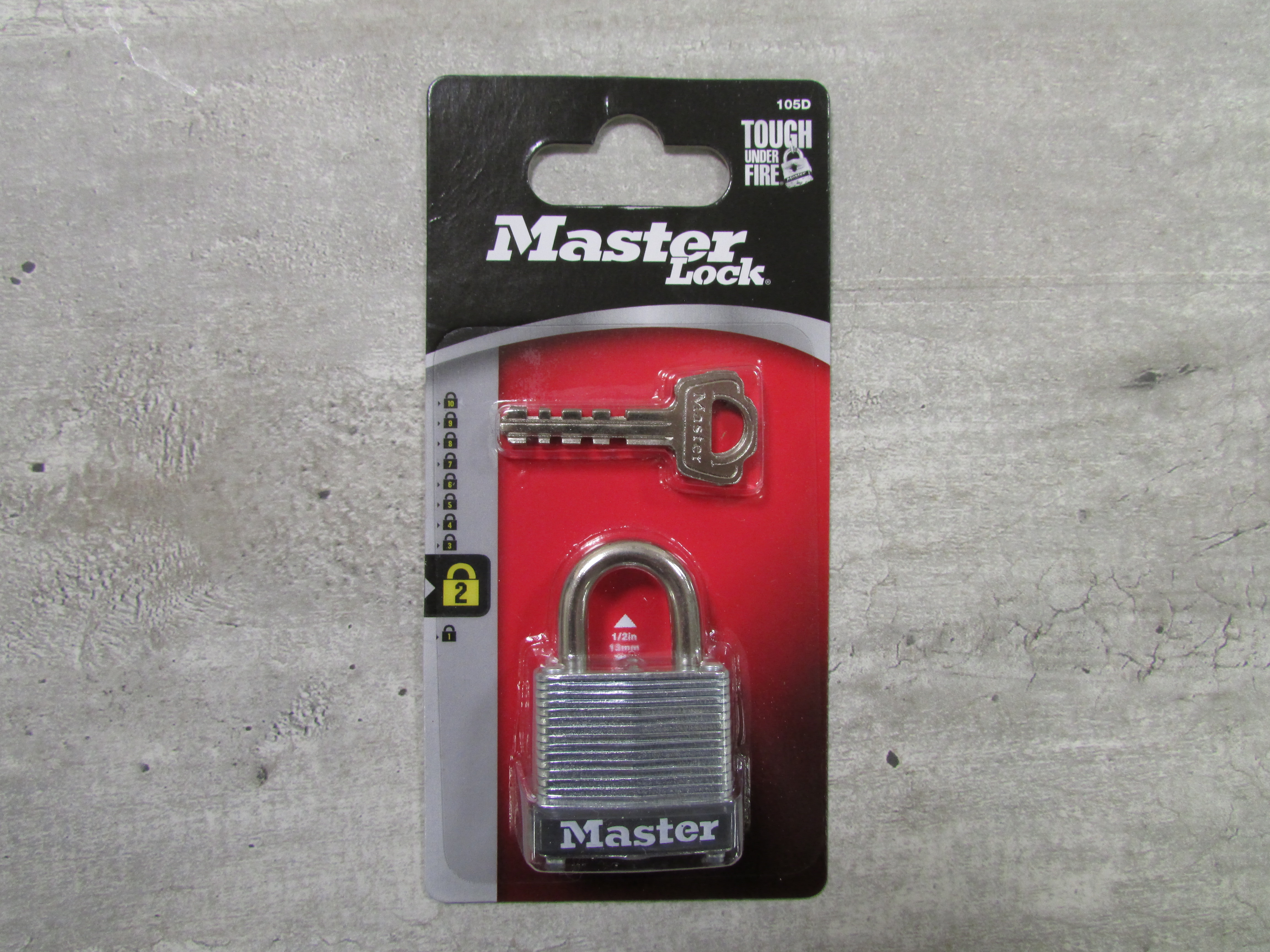 Image for the Steel Keyed Padlock, Master Lock #105D product