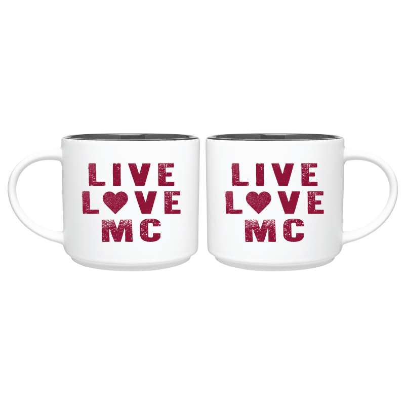 Image for the White Mug with Gray Interior, Live Love MC product