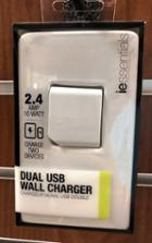 Image for the Dual USB Wall Charger, 2.4Amp, iEssentials, IEC-ACP2U, 016598348, 015328119, 016598346 product