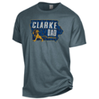 Image for the Dad T-shirt Clarke Iowa Map Champion product