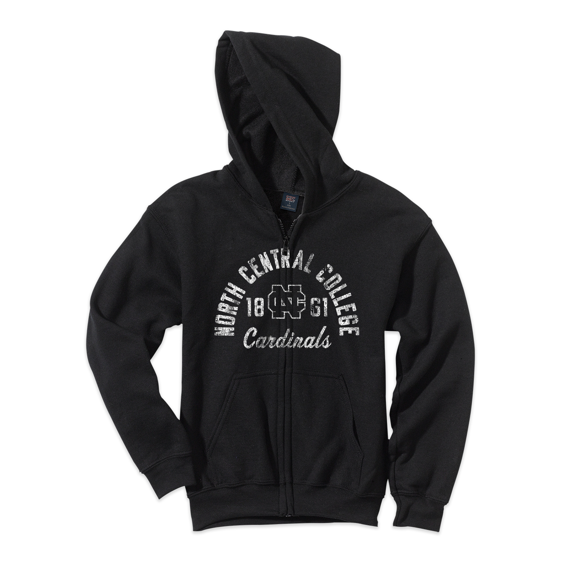 Alternative Image for the Youth Full Zip Hoodie Sweatshirt product